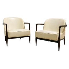 Pair of Mid-Century Modern Sculptural Lounge Chairs