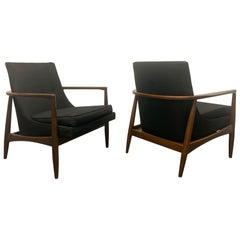Pair of Mid-Century Modern Sculptural Lounge Chairs style of IB Kofod-Larsen
