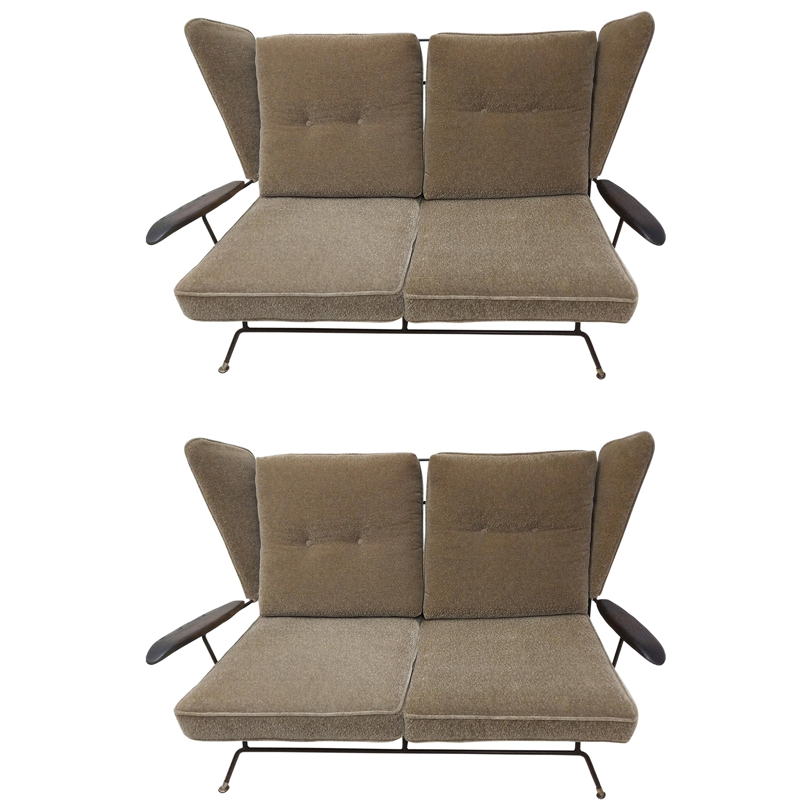 Pair of Mid-Century Modern Settees By Adrian Pearsall