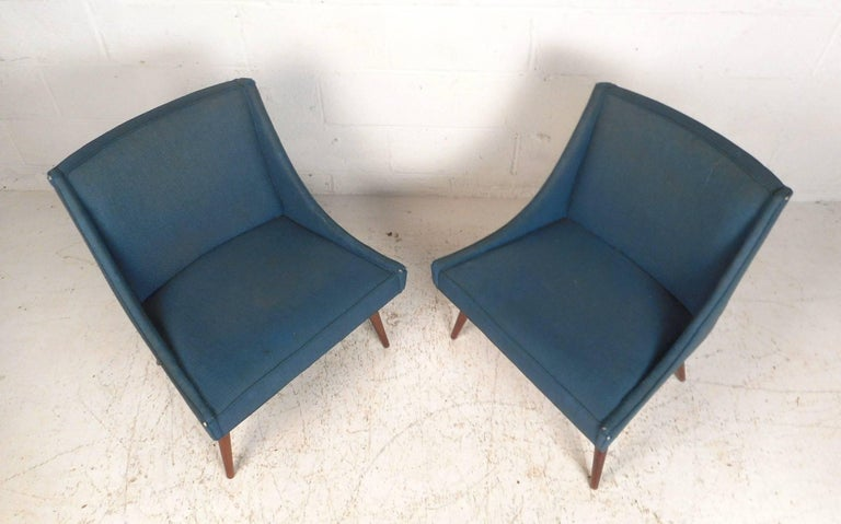 North American Pair of Mid-Century Modern Side Chairs by Milo Baughman for Thayer Coggin For Sale