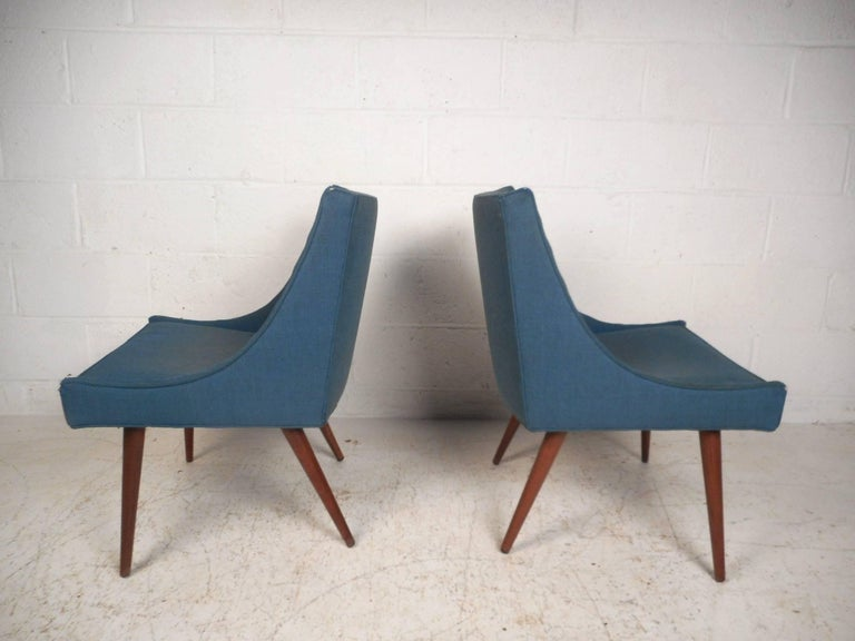Pair of Mid-Century Modern Side Chairs by Milo Baughman for Thayer Coggin In Good Condition For Sale In Brooklyn, NY