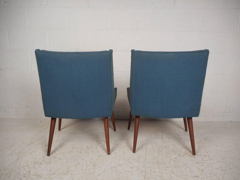 Late 20th Century Pair of Mid-Century Modern Side Chairs by Milo Baughman for Thayer Coggin For Sale