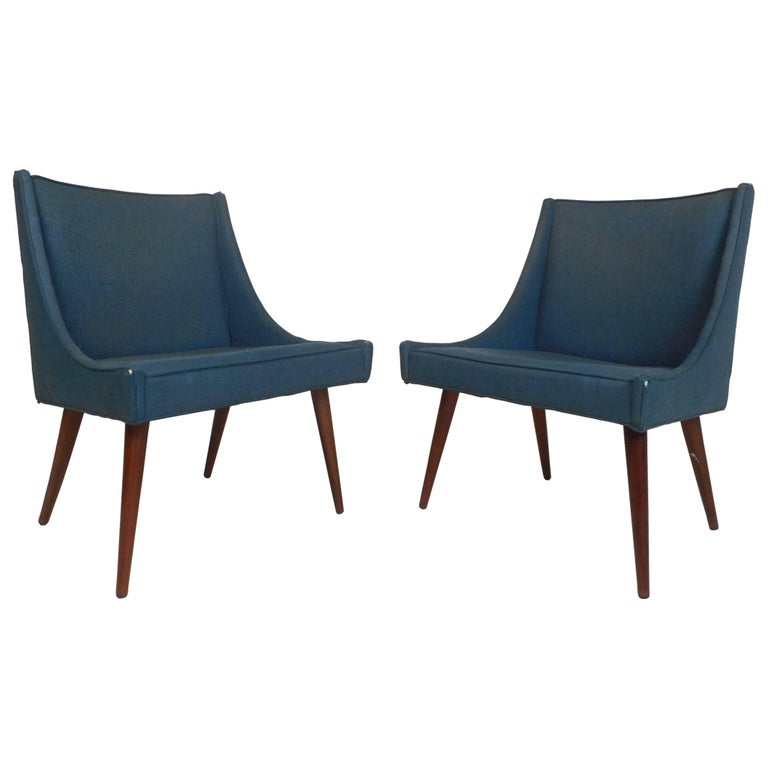 Pair of Mid-Century Modern Side Chairs by Milo Baughman for Thayer Coggin For Sale
