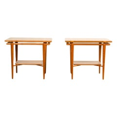 Pair of Mid-Century Modern Side Tables by T.H. Robsjohn-Gibbings for Widdicomb