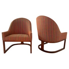 Pair of Mid-Century Modern Spoon Back Lounge Chairs