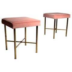 Pair of Mid-Century Modern Stools in the Manner of Paul McCobb