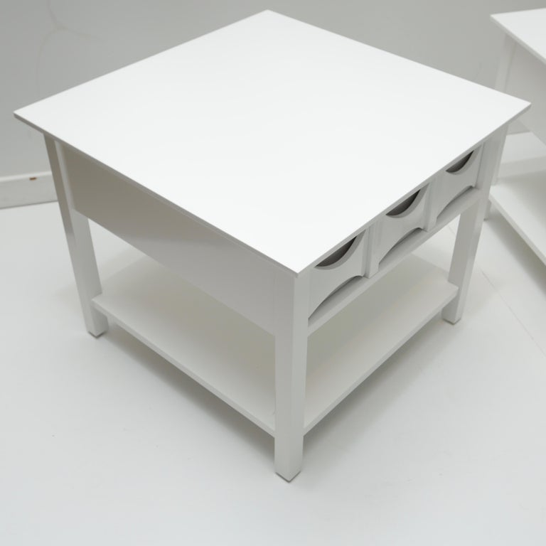 American Pair of Mid-Century Modern Style Lacquered End Tables For Sale