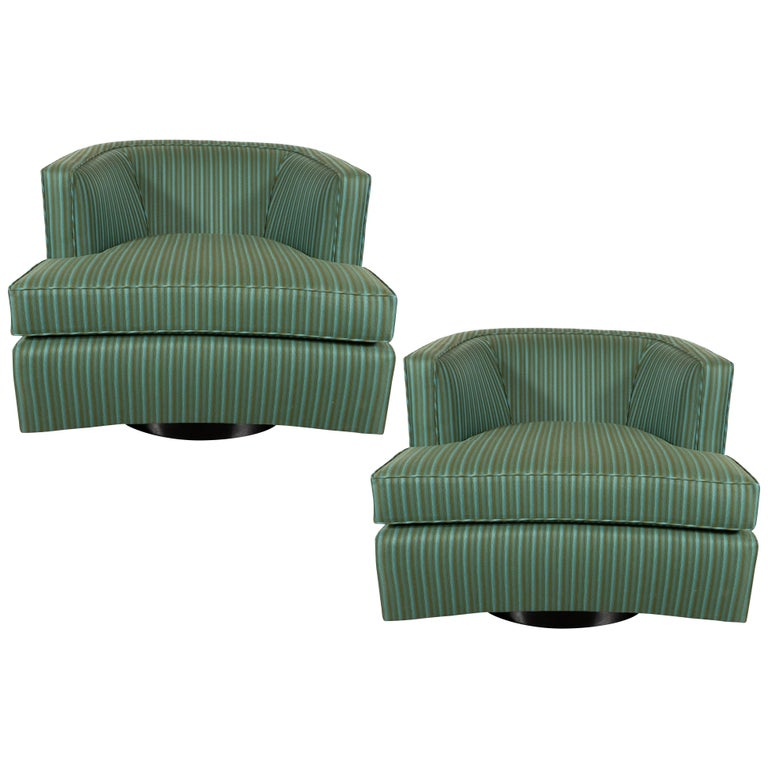 Pair of Mid-Century Modern Swivel Chairs by Harvey Probber