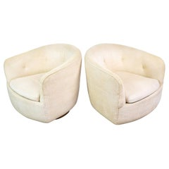 Pair of Mid-Century Modern Swivel Club Chairs by Milo Baughman for Thayer Coggin