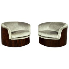 Pair of Mid-Century Modern Swivel Tub Chairs