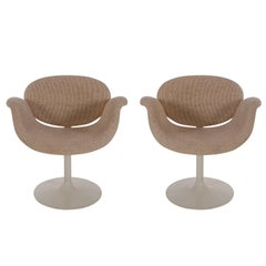 Pair of Mid-Century Modern Swivel Tulip Lounge Chairs by Pierre Paulin Artifort