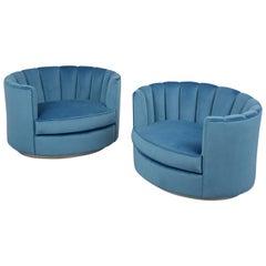 Mid-Century Swivel Club Chairs