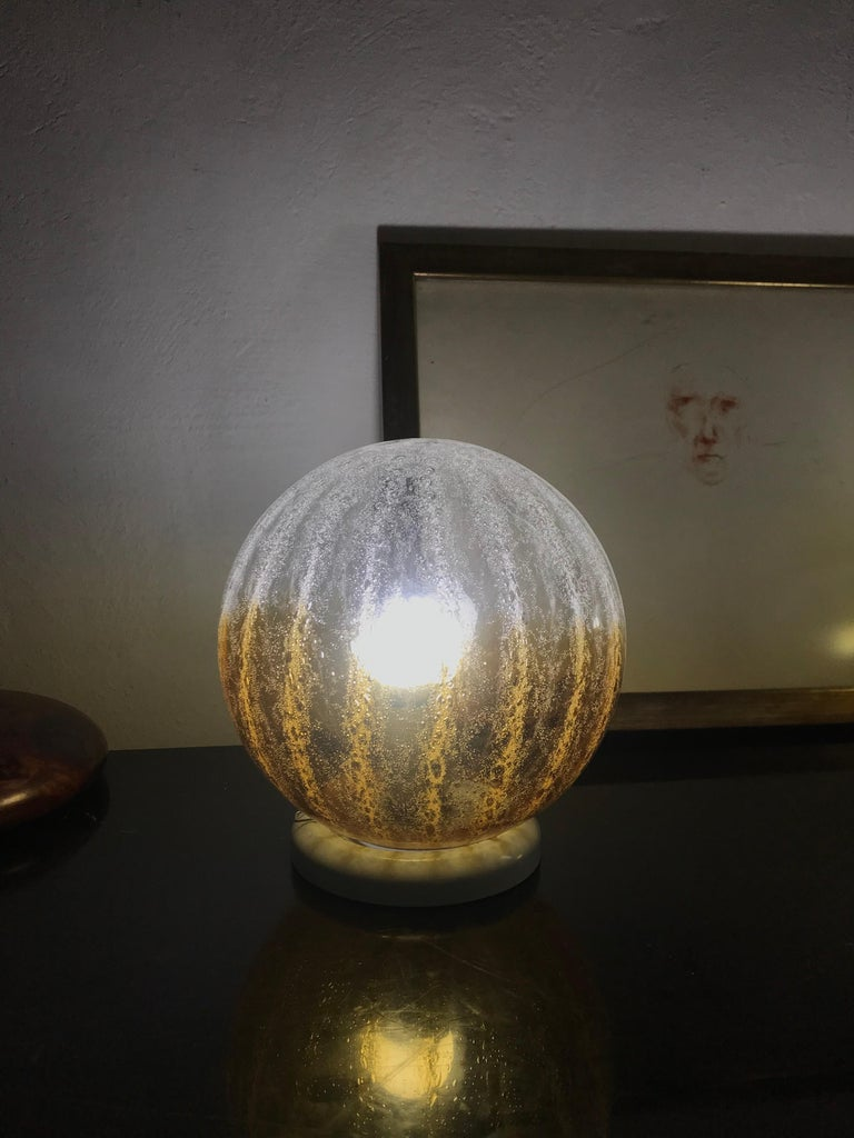 Pair of Mid-Century Modern Table Lamp by Mazzega in Murano Glass, circa 1960 For Sale 1