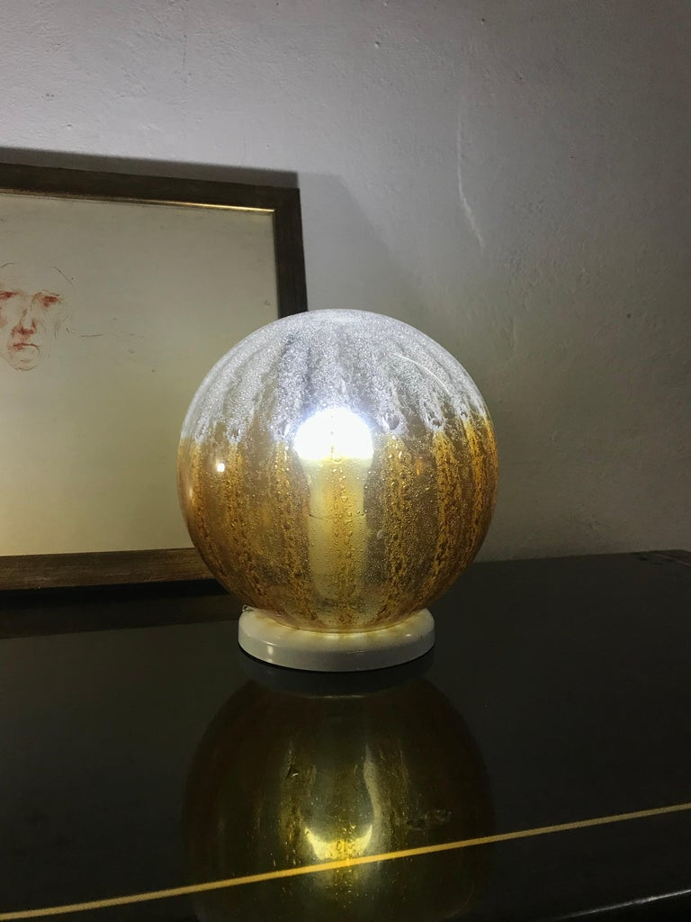 Pair of Mid-Century Modern Table Lamp by Mazzega in Murano Glass, circa 1960 For Sale 2