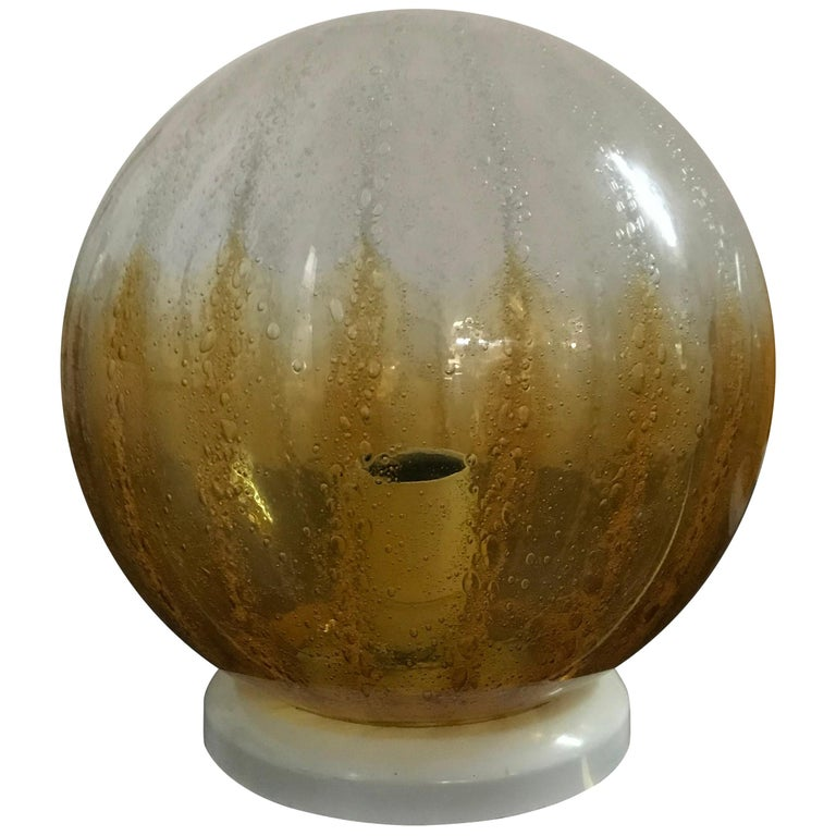 Pair of Mid-Century Modern Table Lamp by Mazzega in Murano Glass, circa 1960 For Sale