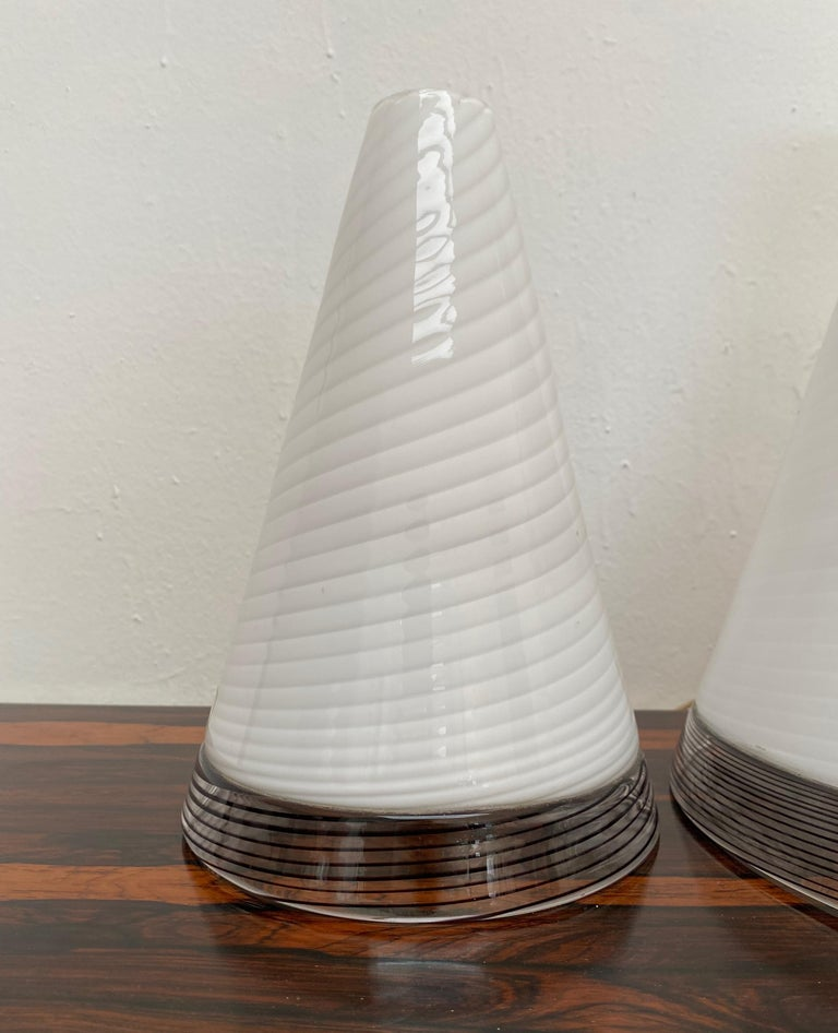 Pair of Mid-Century Modern Table Lamps by Giusto Toso, Murano Italy, ca.1970 For Sale 6
