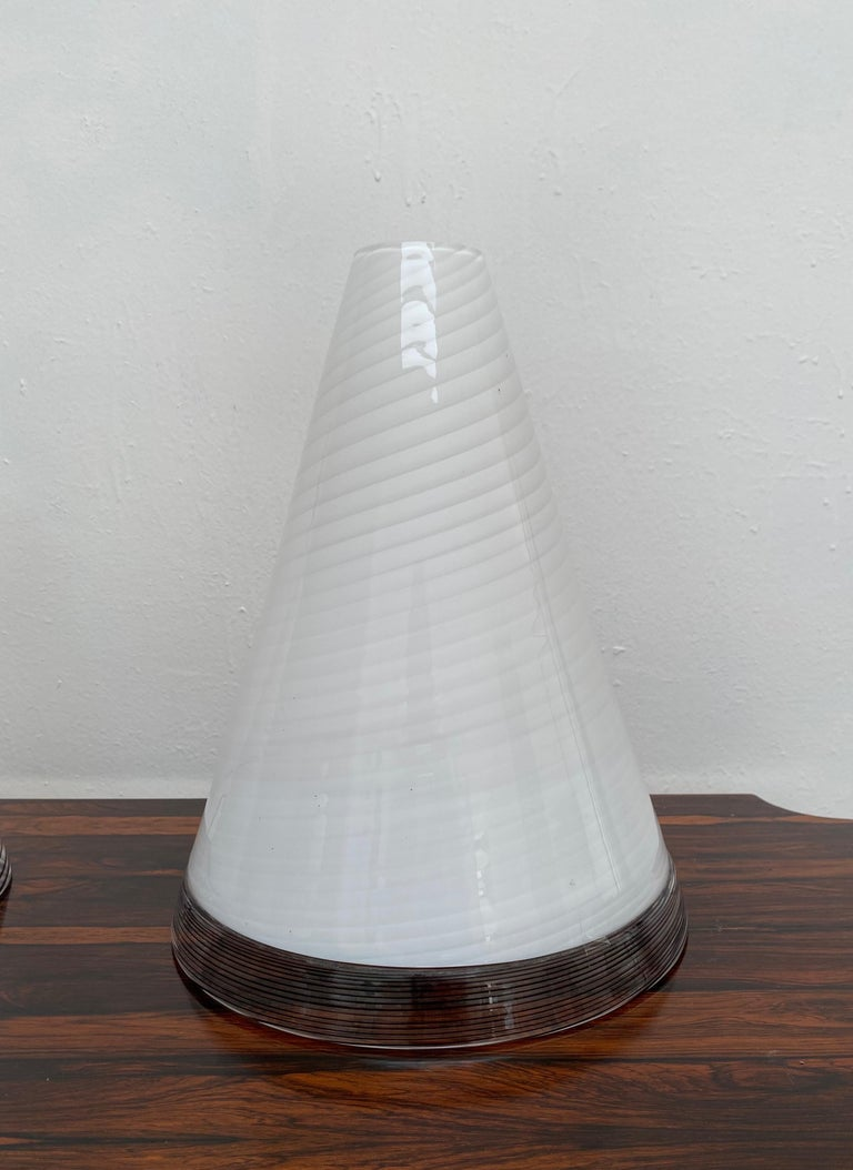 Pair of Mid-Century Modern Table Lamps by Giusto Toso, Murano Italy, ca.1970 For Sale 8