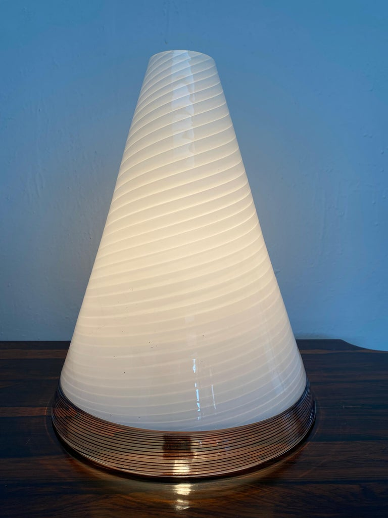 Pair of Mid-Century Modern Table Lamps by Giusto Toso, Murano Italy, ca.1970 For Sale 7