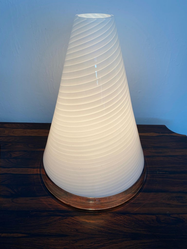 Pair of Mid-Century Modern Table Lamps by Giusto Toso, Murano Italy, ca.1970 For Sale 9