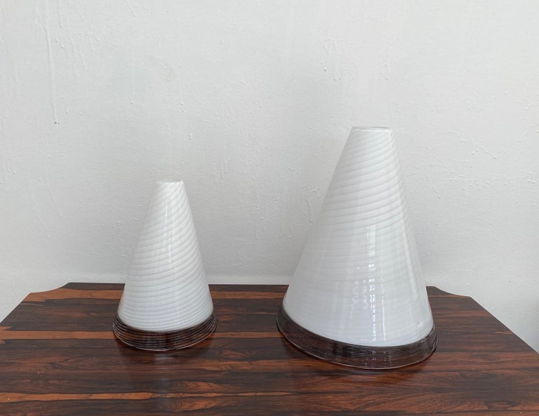 Pair of Mid-Century Modern Table Lamps by Giusto Toso, Murano Italy, ca.1970 For Sale 1