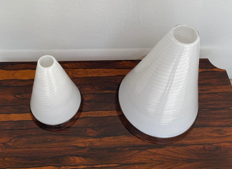 Pair of Mid-Century Modern Table Lamps by Giusto Toso, Murano Italy, ca.1970 In Good Condition For Sale In Merida, Yucatan
