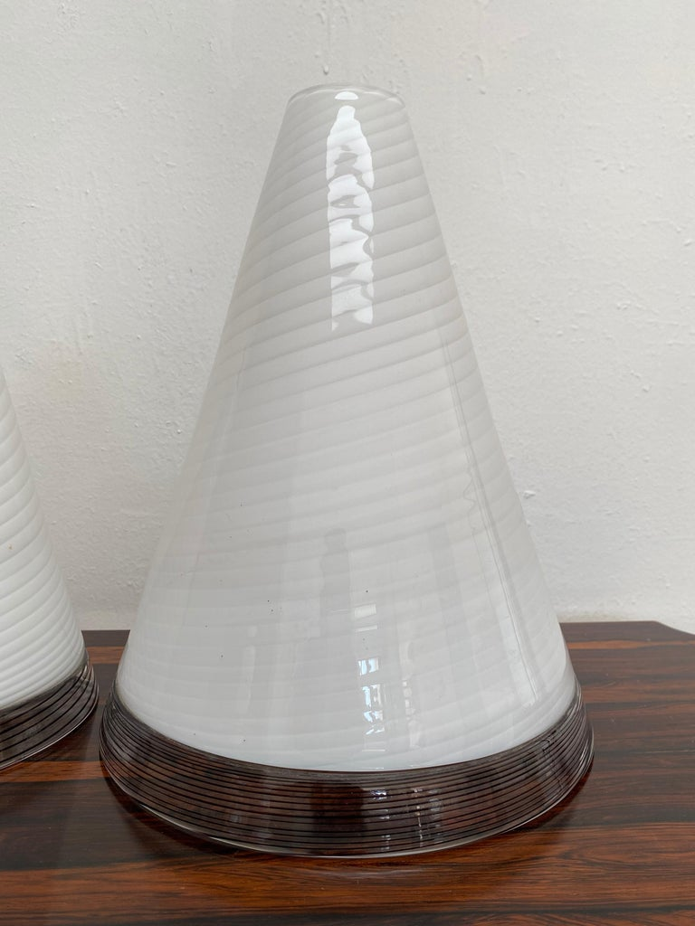 Pair of Mid-Century Modern Table Lamps by Giusto Toso, Murano Italy, ca.1970 For Sale 5