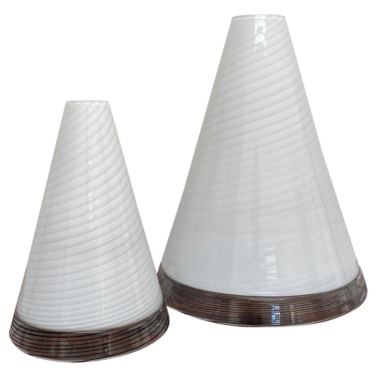 Pair of Mid-Century Modern Table Lamps by Giusto Toso, Murano Italy, ca.1970 For Sale