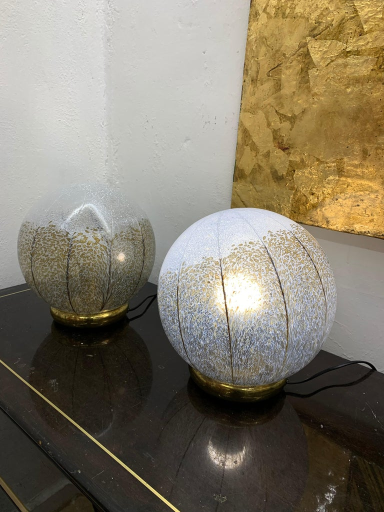 Pair of Mid-Century Modern Table Lamps by Mazzega in Murano Glass, circa 1970 For Sale 7