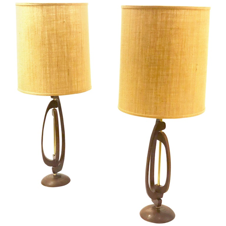 Pair Of Mid Century Modern Table Lamps By Modeline For Sale At 1stdibs
