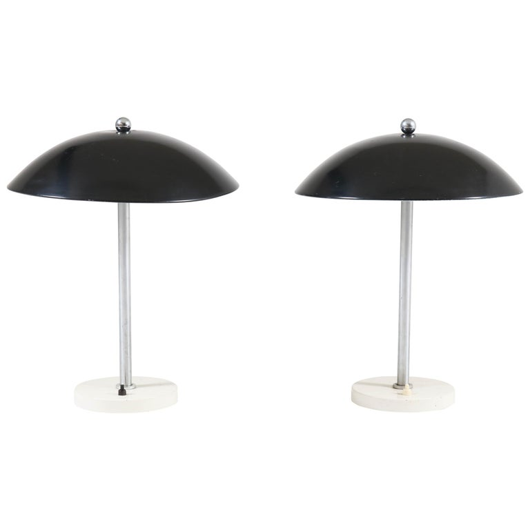 Pair of Mid-Century Modern Table Lamps by Wim Rietveld for Gispen, 1950s For Sale