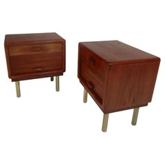Pair of Mid-Century Modern Teak Nightstands by Dyrlund