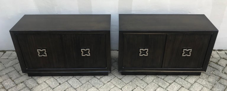 Pair of Mid-Century Modern Tommi Parzinger Storage Cabinets or Small Credenzas For Sale 3