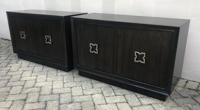 American Pair of Mid-Century Modern Tommi Parzinger Storage Cabinets or Small Credenzas For Sale
