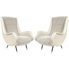 Pair of Mid-Century Modern Vintage Italian Armchairs