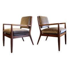 Pair of Mid-Century Modern Walnut Armchairs, USA, 1950s