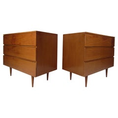 Pair of Mid-Century Modern Walnut Chests