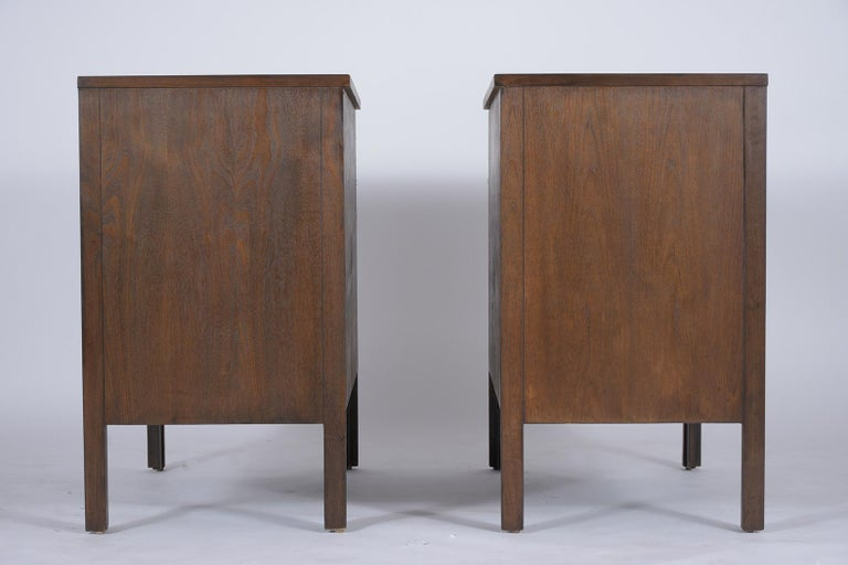 Pair of Mid-Century Modern Walnut Dressers For Sale 4