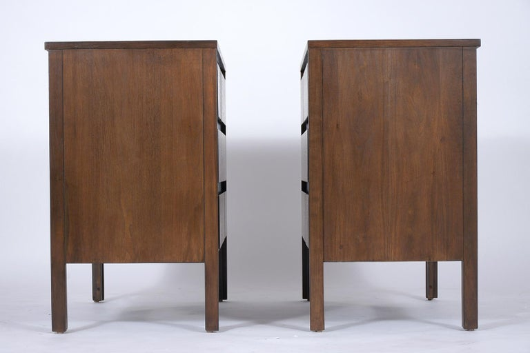 Pair of Mid-Century Modern Walnut Dressers For Sale 5