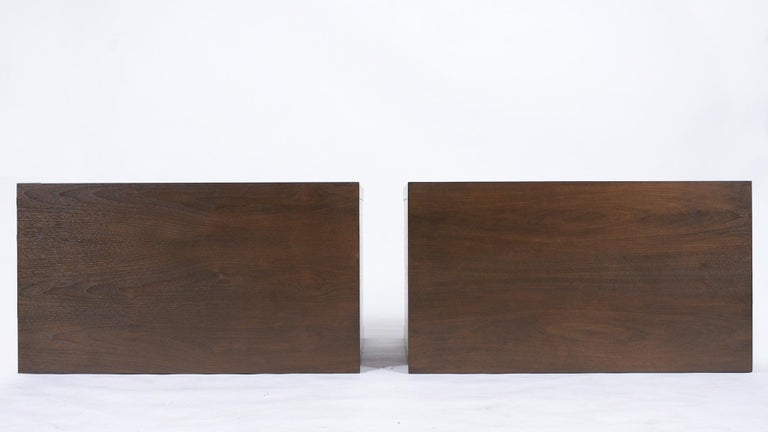 Pair of Mid-Century Modern Walnut Dressers For Sale 7