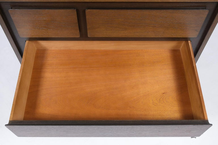 Mid-20th Century Pair of Mid-Century Modern Walnut Dressers For Sale