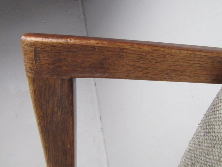 Pair of Mid-Century Modern Walnut Side Chairs For Sale 12