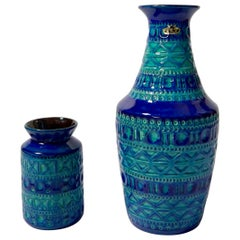 Pair of Mid-Century Modern West German Pottery Vases by Bodo Mans for BAY
