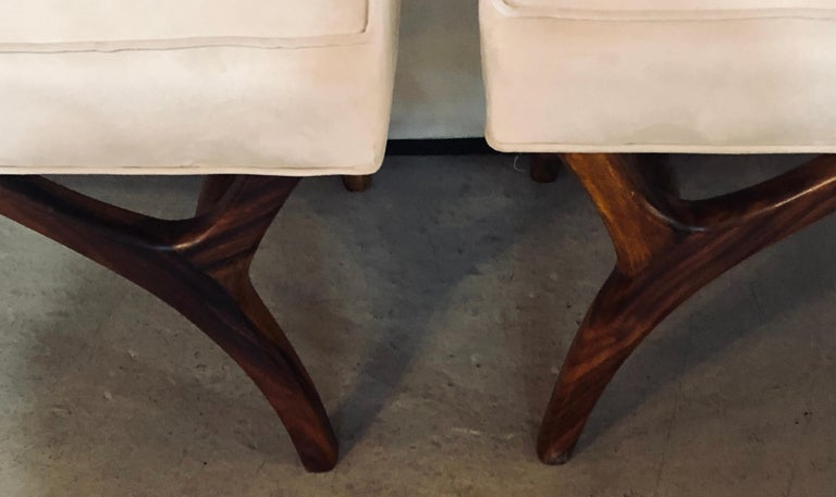Pair of Mid-Century Modern Window Benches or Stools For Sale 1