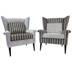 Pair of Mid-Century Modern Wingback Lounge Chairs by Paul McCobb