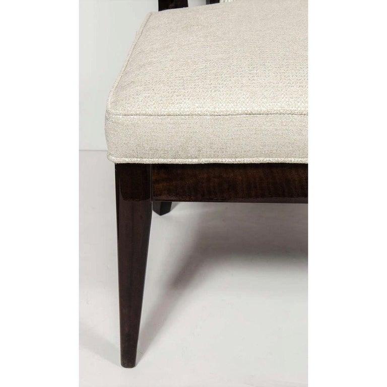 Mid-20th Century Pair of Mid-Century Modernist Klismos Slipper Chairs For Sale
