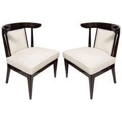 Pair of Mid-Century Modernist Klismos Slipper Chairs