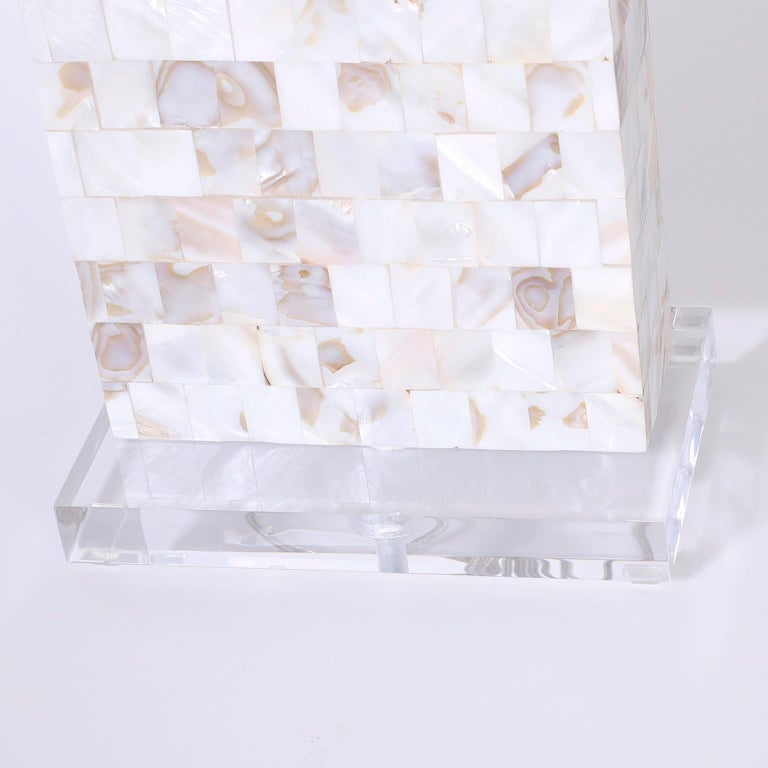 Midcentury Mother of Pearl Table Lamps