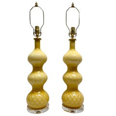 Pair of Mid-Century Murano Glass Table Lamps