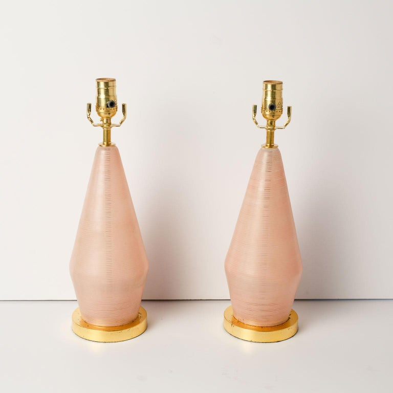 Italian Pair of Midcentury Murano Table Lamps For Sale