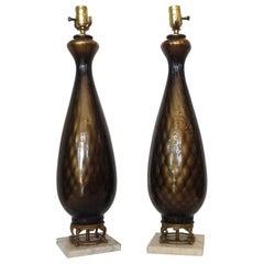 Pair of Midcentury Murano Lamps